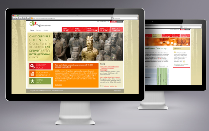 M&Y Global Services - Website Design
